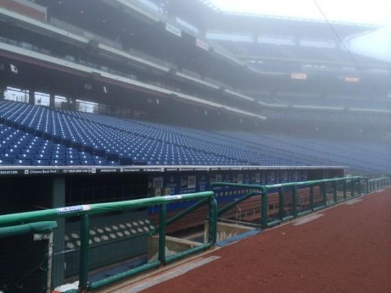 Phillies dugout