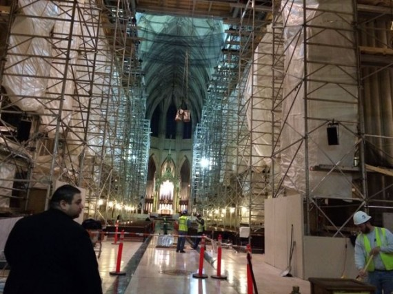 St. Patrick's Cathedral NYC under construction