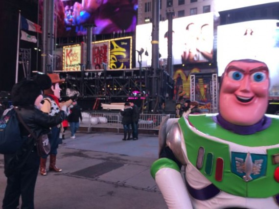 Fake Disney characters in Times Square