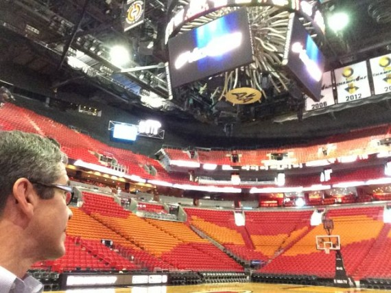 Miami Heat American Airlines Arena and jeff noel