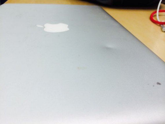 Dented MacBook Pro case