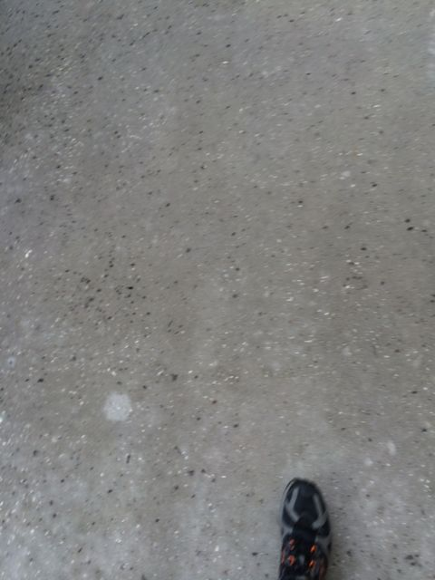 footstep on sidewalk