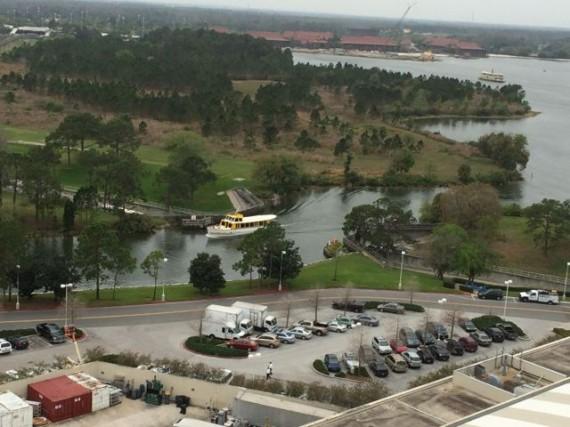Disney's Magic Kingdom Water Bridge from Contemporary Resort 14 floor observation deck