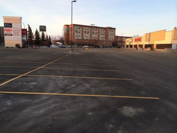 empty, cold parking lot