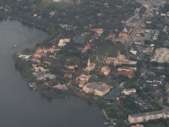 Rollins College in Winter park, Florida from delta jet