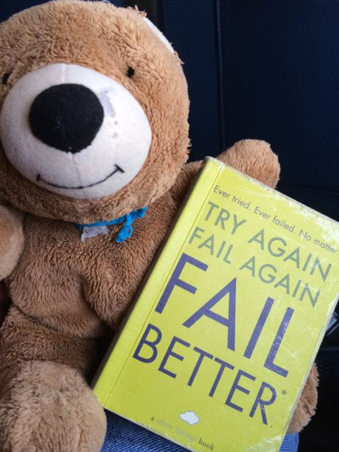 Small inspirational book with Teddy Bear
