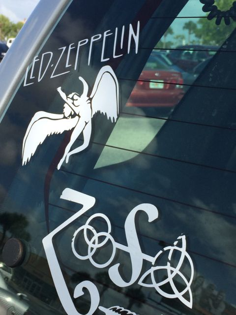 Led Zeppelin car decals