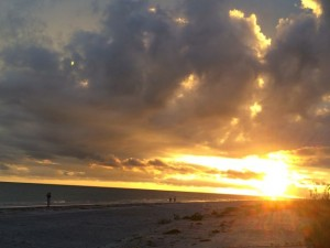 Sanibel Summer Sunset from Mitchell's Sand Castles