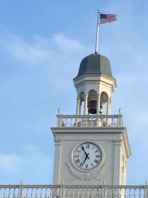 Epcot's American Adventure pavilion clock tower