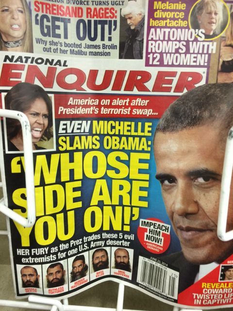 National Inquirer with the Obama's on the cover