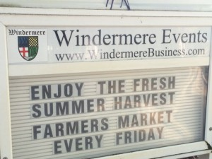 Windermere Events city sign for summer events