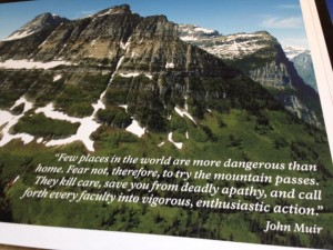 John Muir quote at Logan Pass