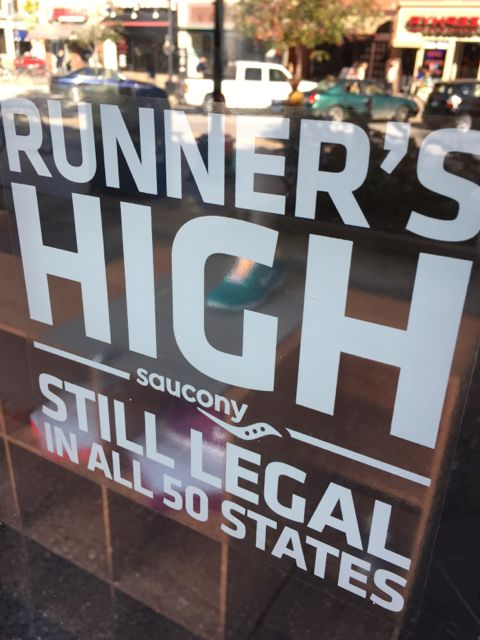 Running store storefront window