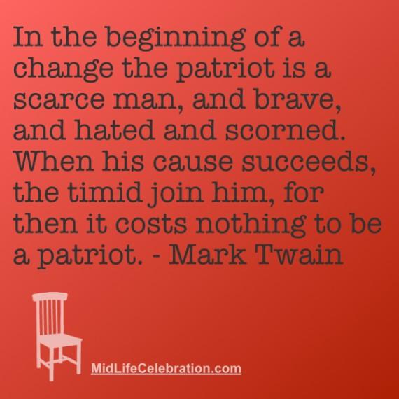Mark Twain Patriot quote