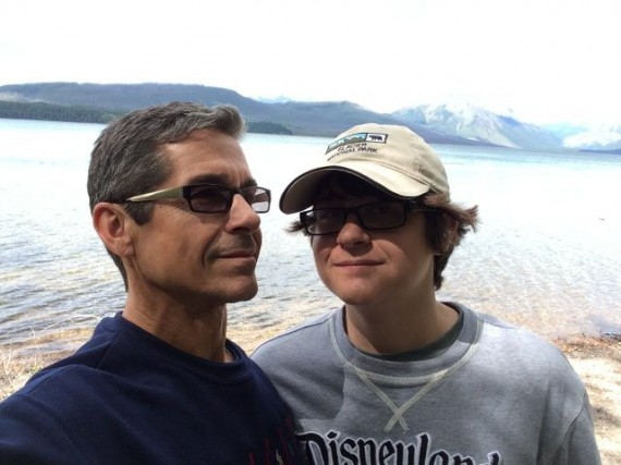 Father and Son at Lake McDonald 2014)