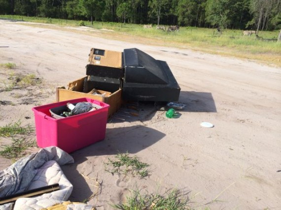 Illegal trash dumping at construction site near Disney World