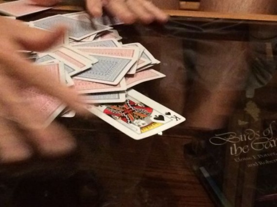 Oh Hell card game with King of Spades
