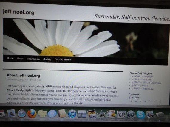 old website header for jeff noel.org