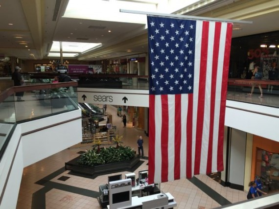 American Flag in Mall