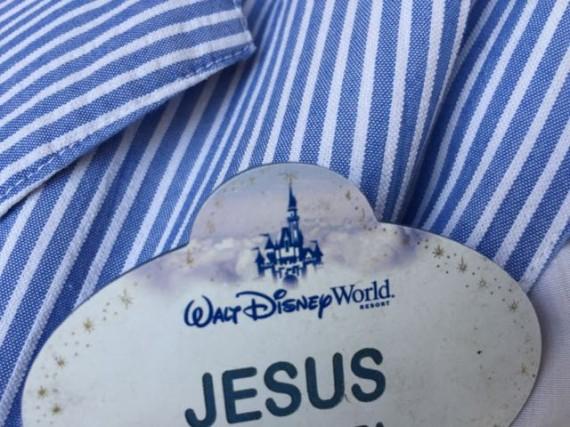 Jesus name tag at Disney