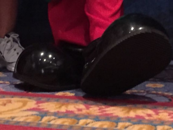 Mickey Mouse's feet