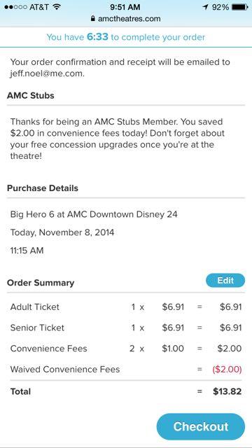 AMC Stubs screen shot