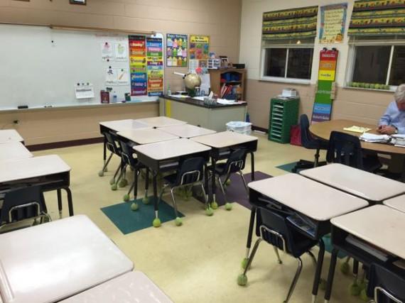 Catholic school first grade classroom
