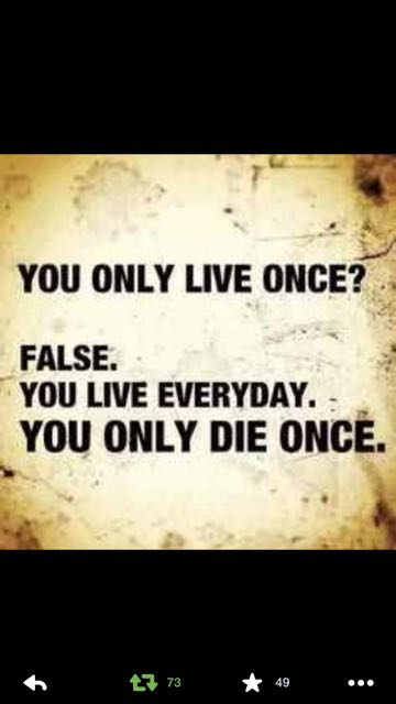 Paradoxical quote about living and dying