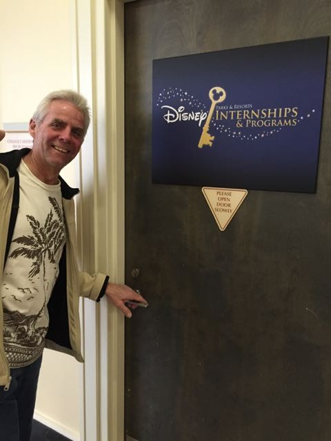Having fun at the Disney Casting Center