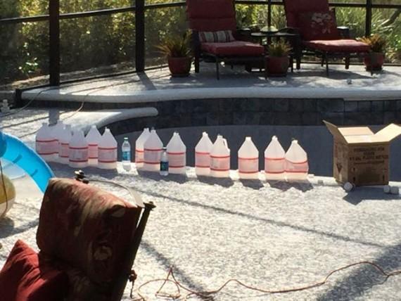 Acid washing a Florida pool