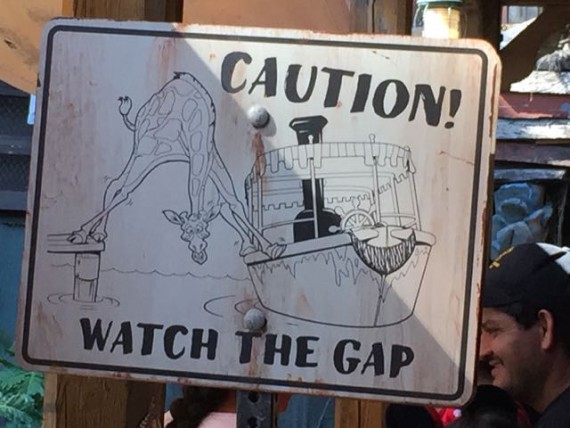 Disneyland Jungle Cruise sign