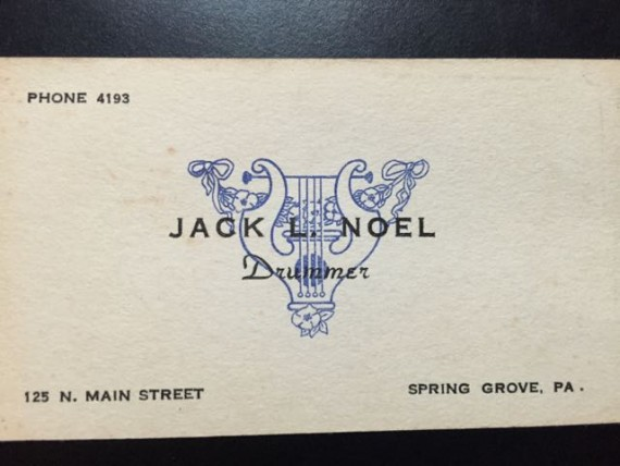 1950's small town business card