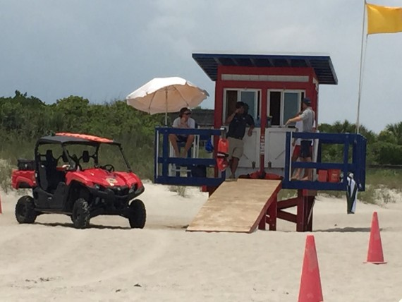 Cocoa Beach Lifeguard patrol stand