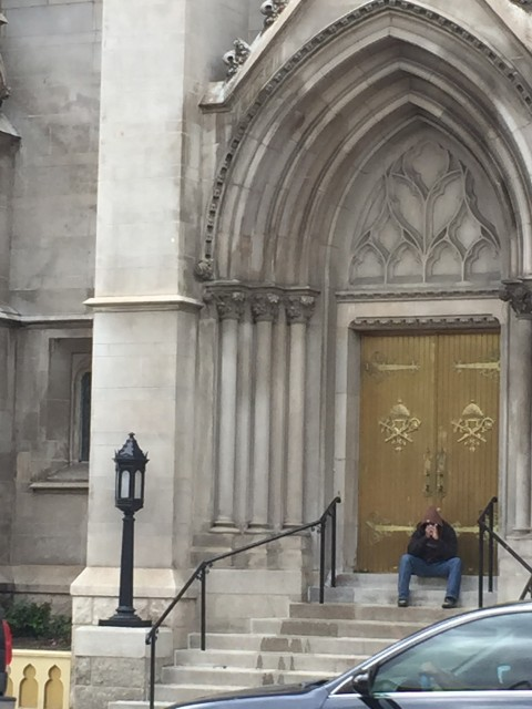 Man outside Denver Church