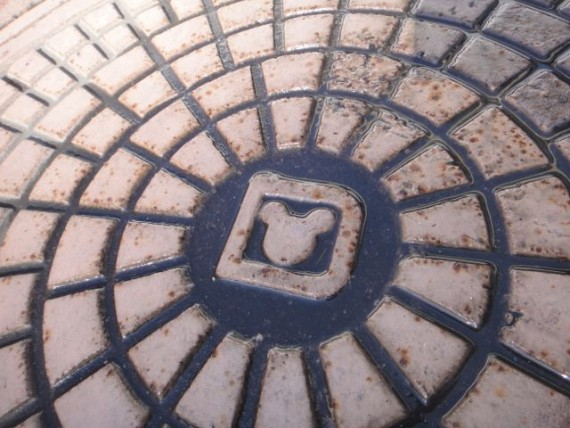 Disney Storm drain cover with hidden Mickey