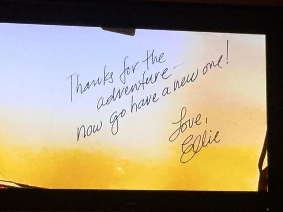 Note Ellie wrote to Carl in the Disney Movie UP