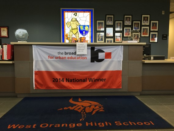 West Orange High School Administration office lobby