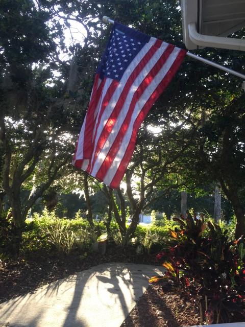 Homeowner's American Flag