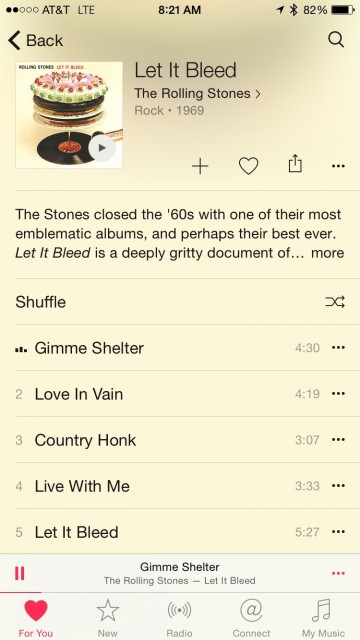 Apple Music Rolling Stones screen shot