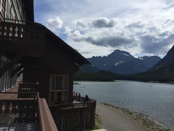 Many Glacier Hotel lake view room