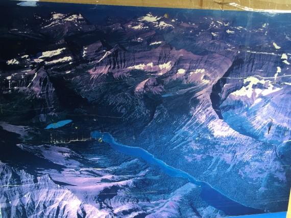 Ariel view of Glacier National Park