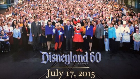 Disneyland 60th anniversary Cast photo