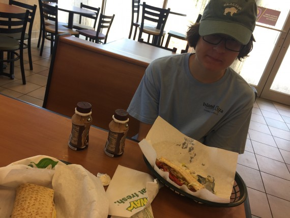 Subway breakfast