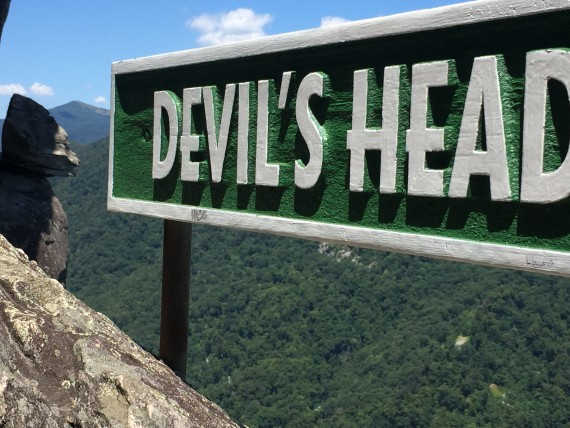 Devils Head at Chimney Rock
