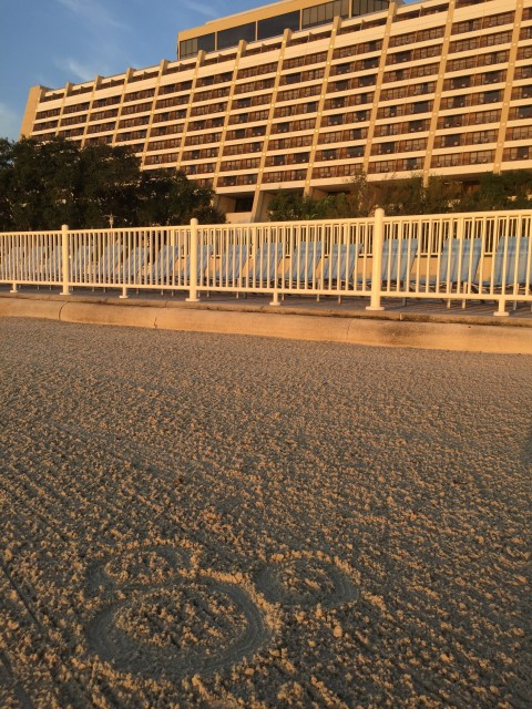 Hidden Mickey in Disney Resort Beach sand