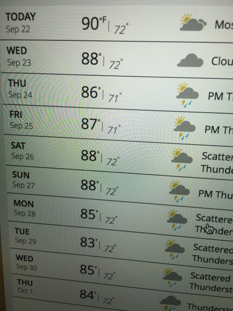 Weather 10-day Orlando forecast