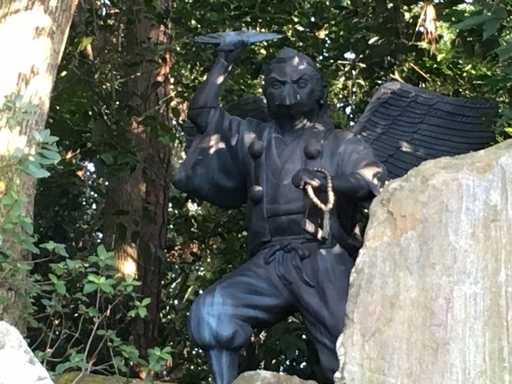 Japanese Tengu statue at Epcot