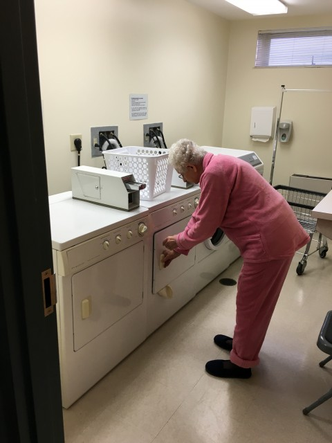 Senior Living laundry room