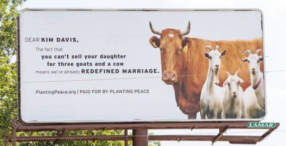 protest billboard