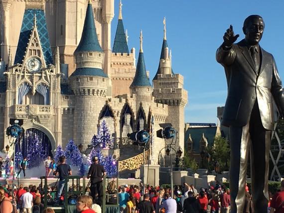 Magic Kingdom Christmas parade filming